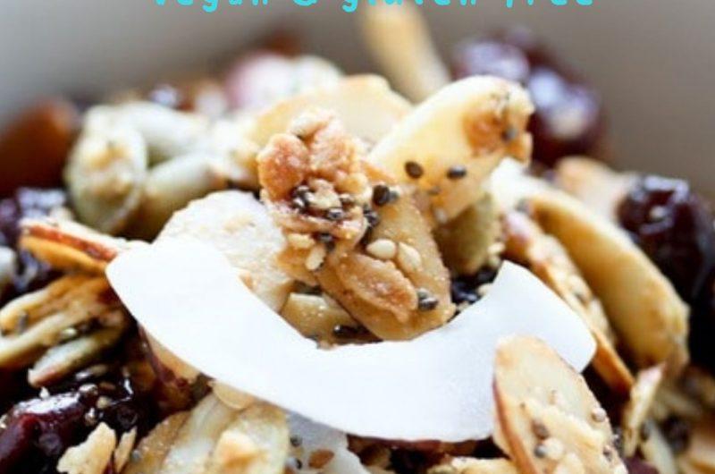 vegan & gluten-free homemade granola
