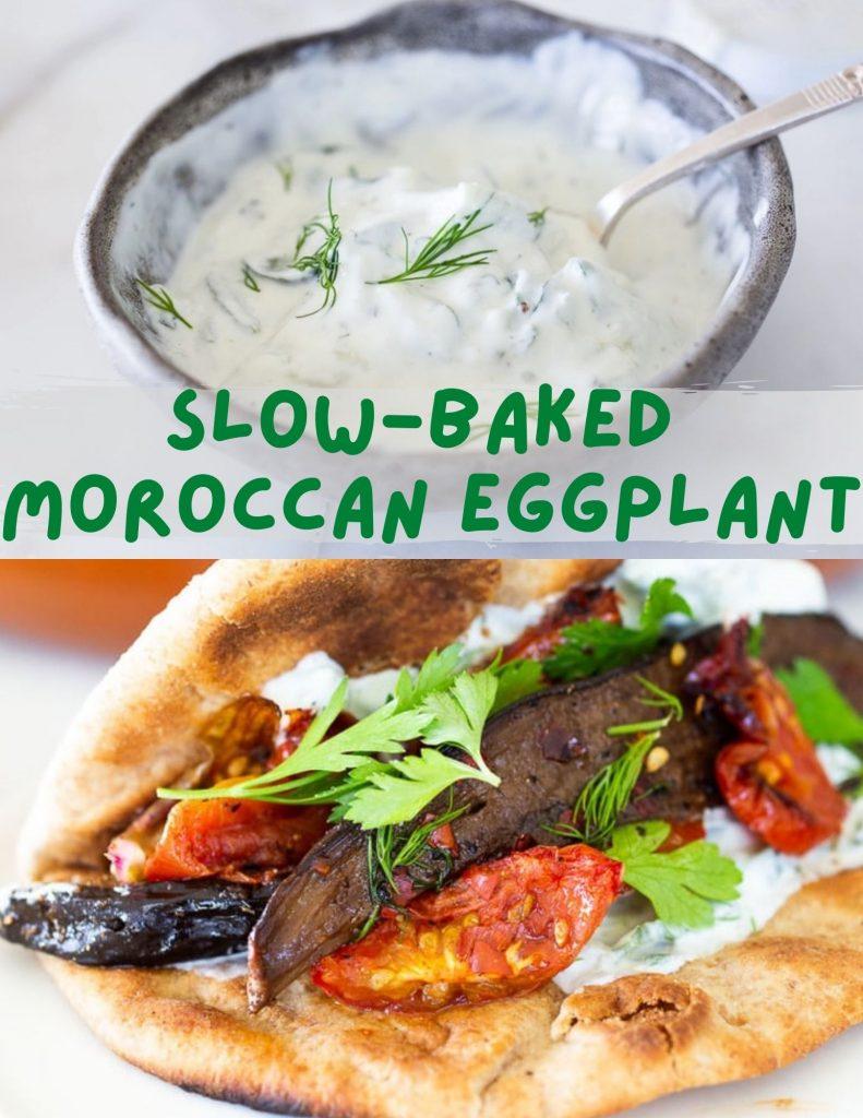 moroccan eggplant with ztaziki