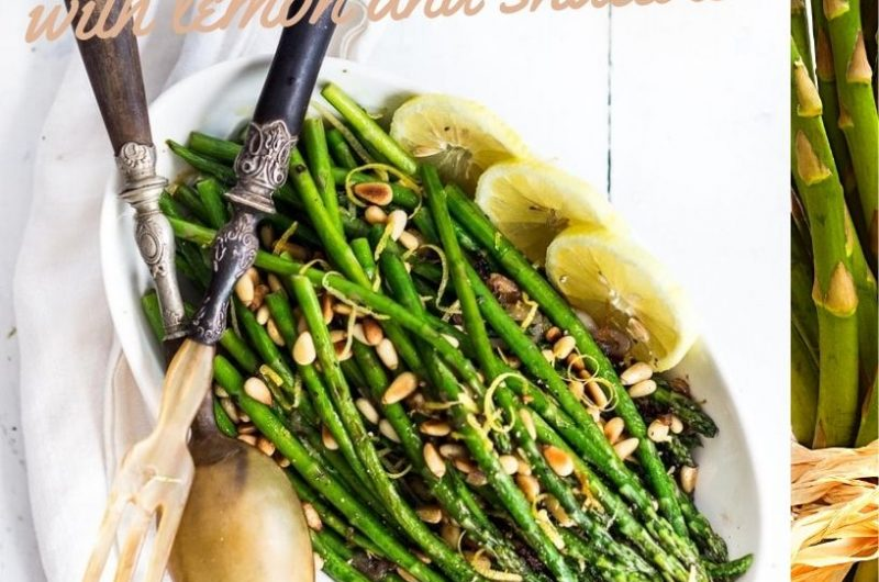 roasted asparagus with lemon and shallots