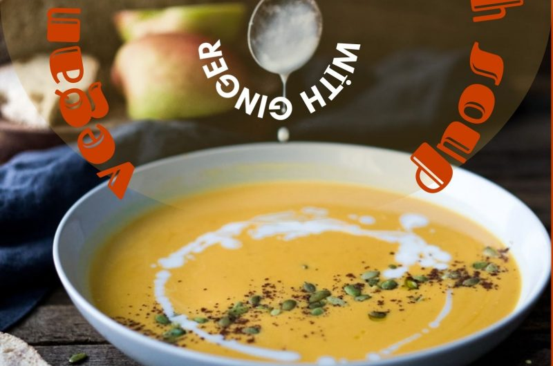 vegan butternut squash soup with ginger