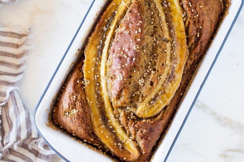 vegan sourdough banana bread
