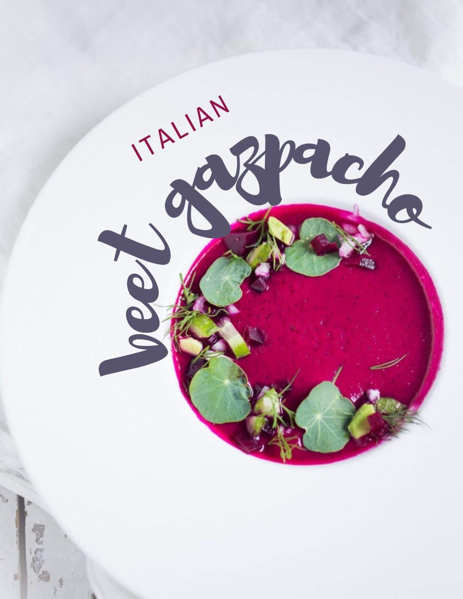 italian beet gazpacho
