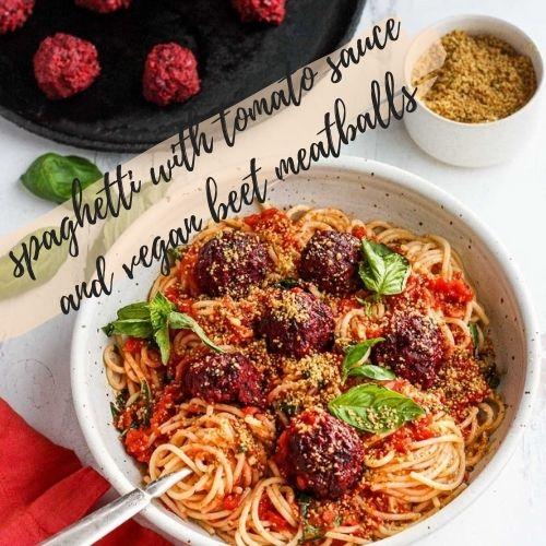 spaghetti and beet balls 2