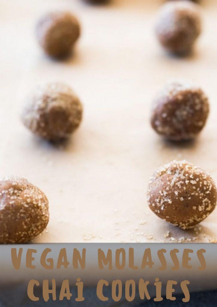 vegan molasses chai cookies 2