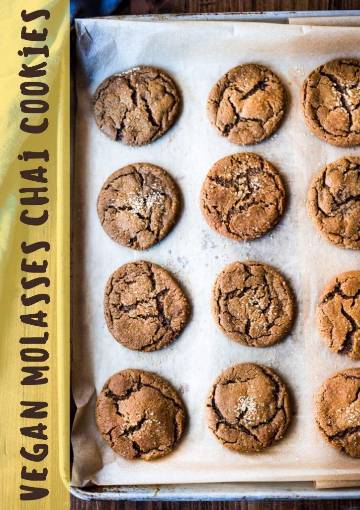 vegan molasses chai cookies3