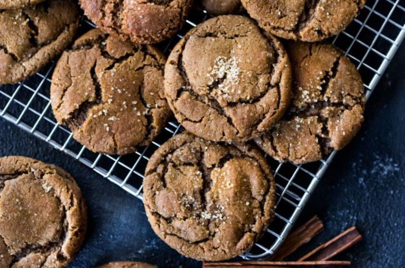 vegan molasses chai cookies